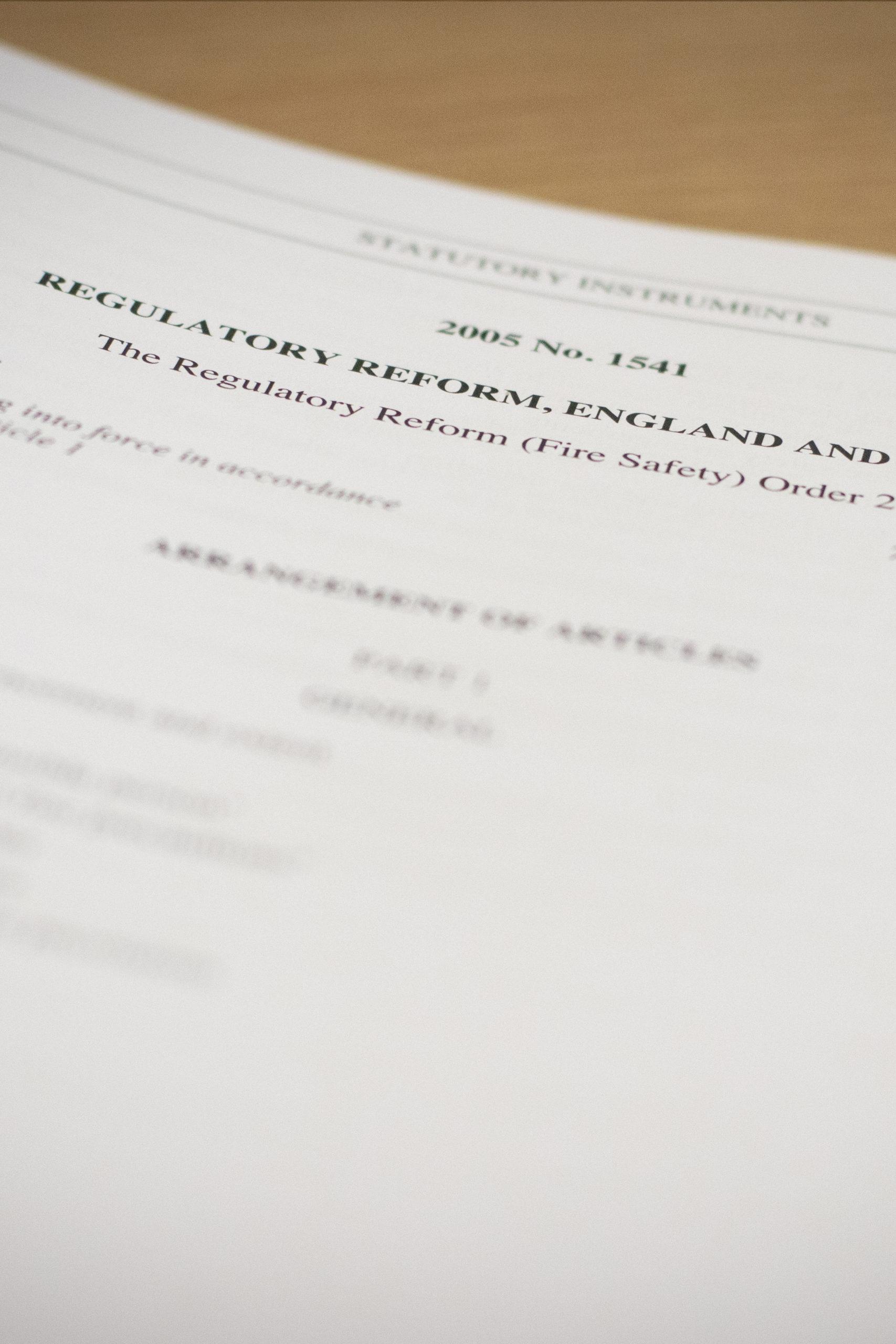 Regulatory Reform Order